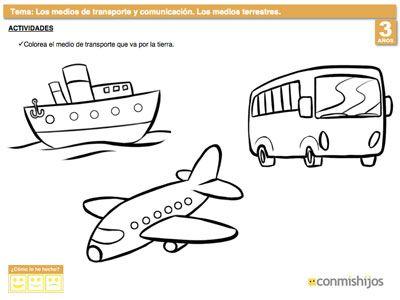 Resultado De Imagen Para Medios De Transporte Para Colorear Ninos De Preescolar Comics Templates Art Tips