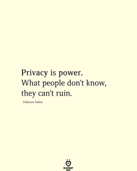 Privacy Is Power What People