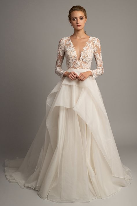 9563fe5ed1c4 Introducing Spring 2019 Jenny Yoo Collection bridal. The Valentina Gown is  a romantic ball gown constructed of the finest French Lace and elegant Silk  ...