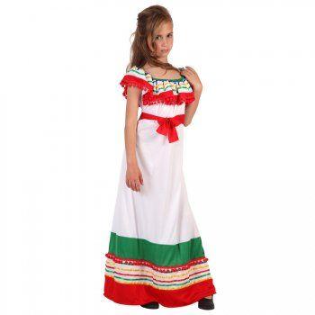 Multi couleur mexicain Dame Costume Robe fantaisie Mexique Party Festival costume nouveau