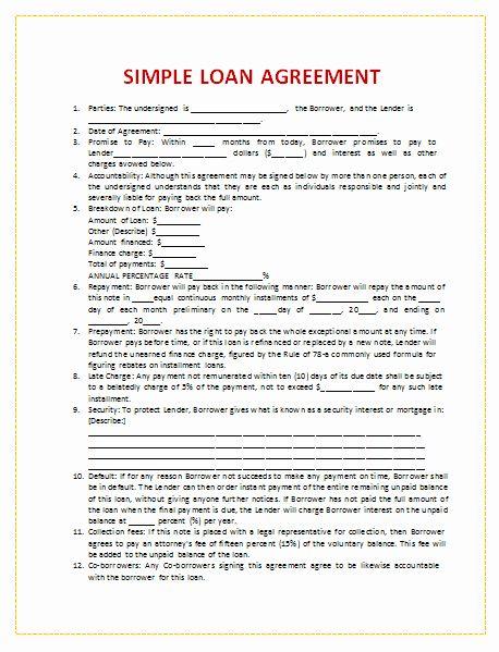 Personal Loan Agreement Template Luxury Document Templates Loan Agreement Template In Word Contract Template Personal Loans Loan