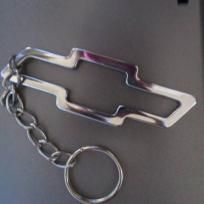 Vintage Chevrolet Logo Silver Bow Tie Automobile Car Emblem Key