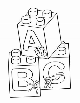 Image Result For Lego Block Printable Templates Abc Coloring Pages Abc Coloring Lego Coloring Pages