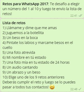 Retos Para Whatsapp 2017 Juegos Para Whatsapp Retos Para
