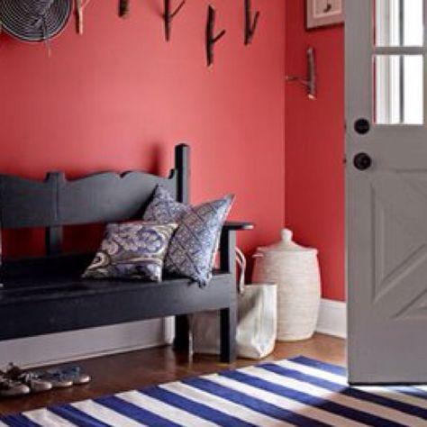 Coral Walls Die Alte Munz Rotes Zimmer Haus Deko Und
