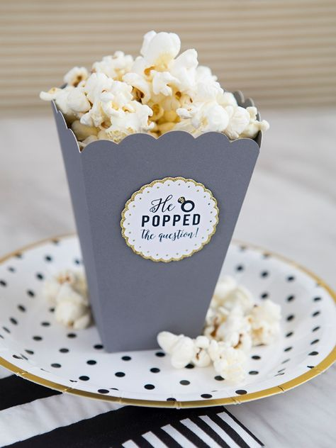 He Popped The Question, DIY popcorn favors!
