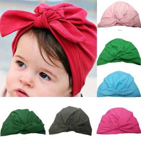 Newborn Baby Hat Toddler Infant Boys Girls Cotton Knot Hospital Beanie Hat Cap