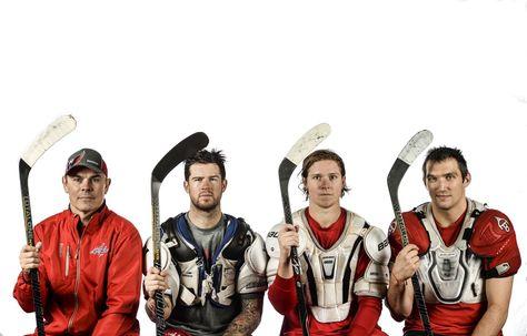 Washington Capitals -- Coach Oates, Green, Backstrom and Ovie looking
