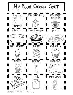 Free Food Groups Sort Printables Food Groups Free Food And Group