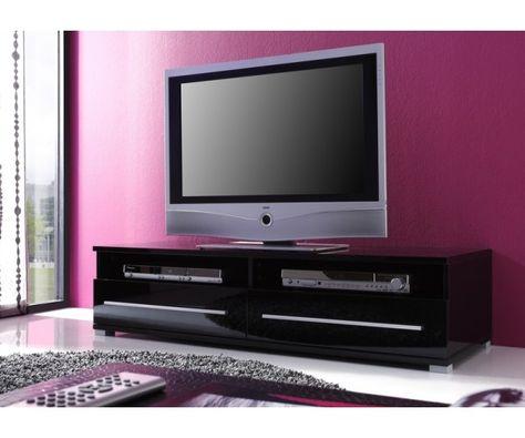 Meuble Tv Noir Laque Meuble Et Canape Com Meubletv Avec Images