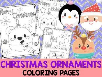 Kawaii Christmas Ornaments The Crayon Crowd Coloring Pages Christmas Ornament Coloring Page Kawaii Christmas Coloring Pages