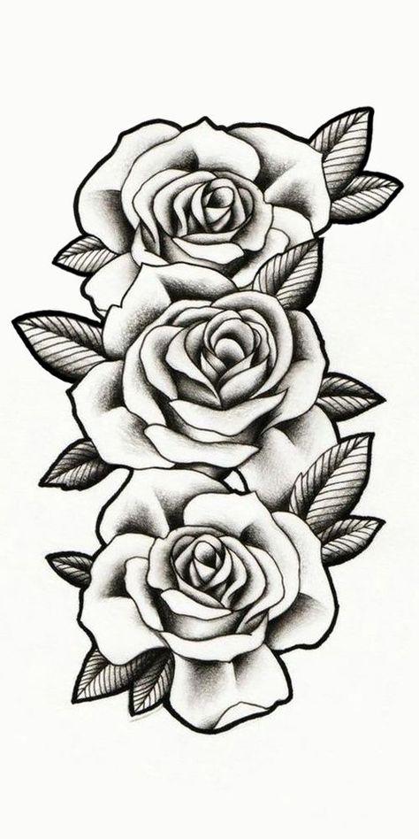 Rosas Sombreadas Tattoo Rosas Sombreadas Tattoo Stencils