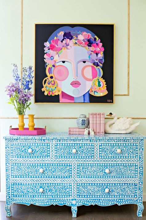 LOVING this painting and color combo. That buffet!