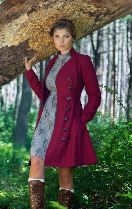 Outdoor Orchestra Coat in Berry   Mod Retro Vintage Coats   ModCloth.com