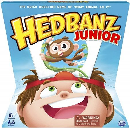 Hedbanz Jr Family Quick Question Guessing Board Game Family Board Games Board Games Board Games For Kids