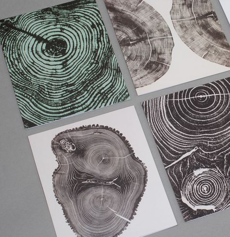 Bryan Nash Gill's Woodcut Notecards #tree #wood #stump #design