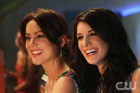 """""""A Tale of Two Parties""""--LtoR: Jessica Stroup as Erin Silver and Shenae Grimes as Annie Wilson on 90210 on The CW. Photo: Scott Alan Humbert/The CW ©2012 The CW Network. All Rights Reserved."""