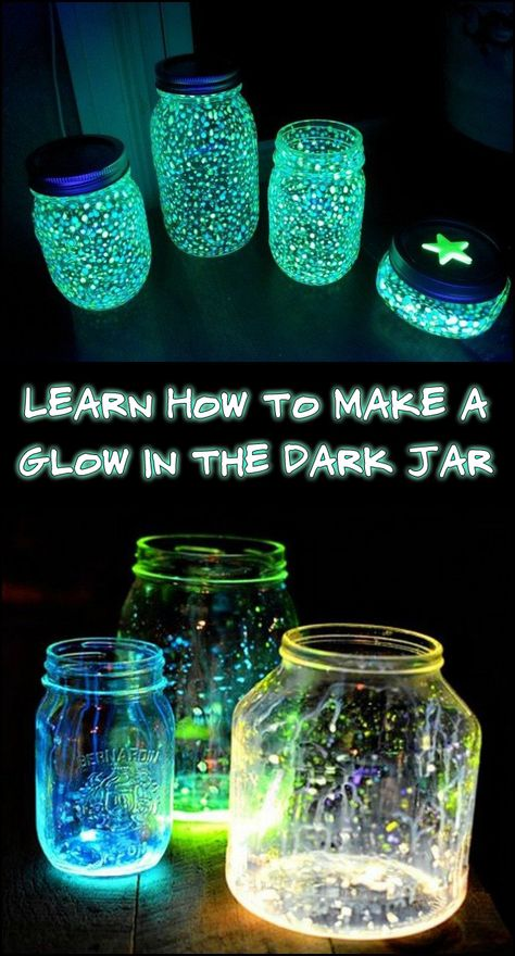 2 night light jars diy design ideas is part of Diy glow - 2 night light jars diy design ideas Diy Crafts For Girls, Summer Crafts, Diy Crafts To Sell, Kids Crafts, Craft Projects, Glow Crafts, Light Crafts, Recycling Projects, Diy For Teens