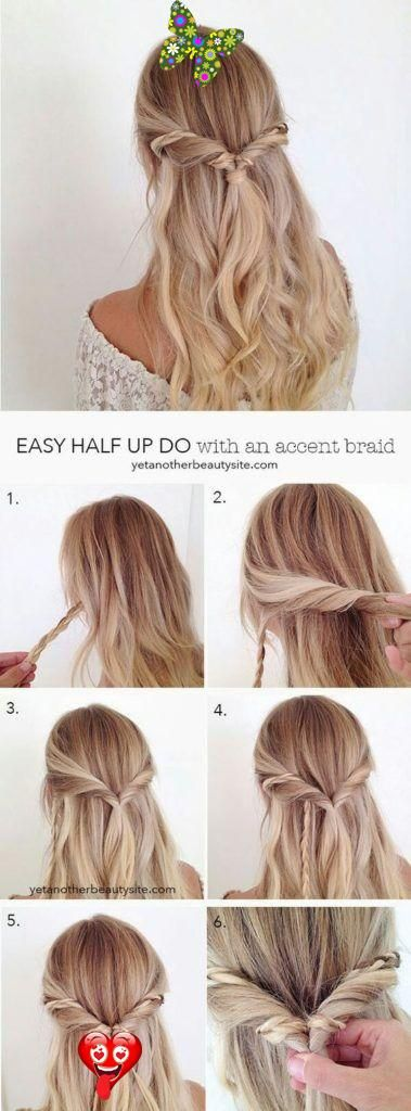This Is One Of The Cutest Half Up Half Down Hairstyles For Long Hair Br Hair Styles Half Updo Hairstyles Long Hair Styles