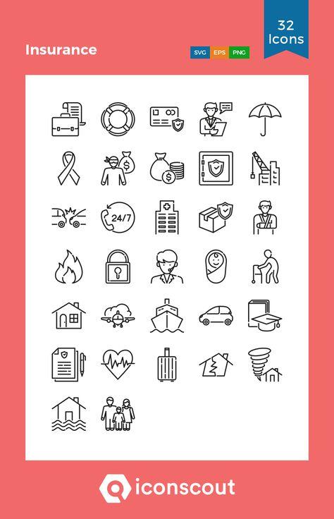 Insurance Icons Vector Set Sponsored Sponsored Icons Insurance Set Vector Life Insurance Marketing Icon Set Universal Life Insurance