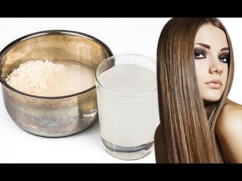 agua de arroz para el cabello como se usa
