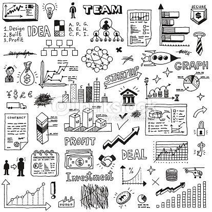 Business Startup Doodle Sketch Concept Set 2 Hand Drawn Vector