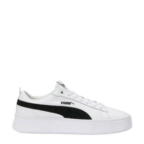 Puma sneakers Smash Platform Wit/zwart - Schoenen sneakers ...