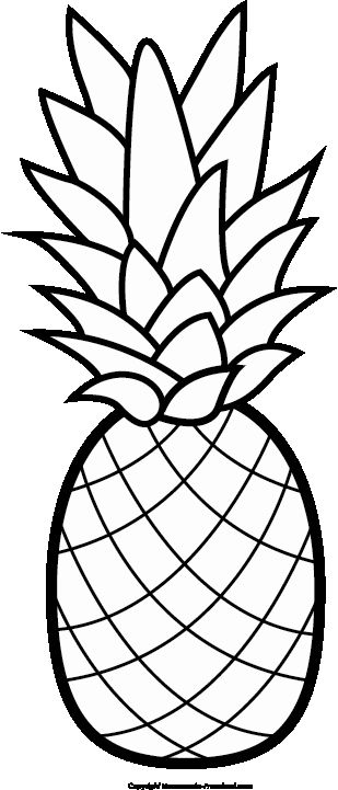 Cute Pineapple Coloring Page Beautiful Free Luau Clipart In 2020 Pineapple Crafts Pineapple Theme Free Clip Art
