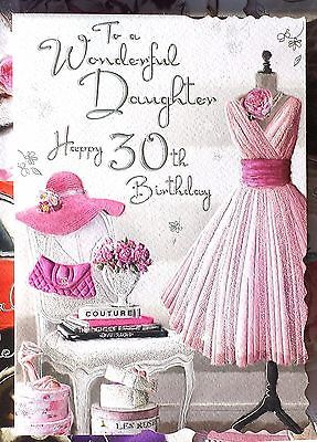 To A Wonderful Daughter Happy 30th Birthday Beautiful 30 Card Lovely Words 30th Birthday Cards Happy 30th Birthday Wishes Happy 30th Birthday