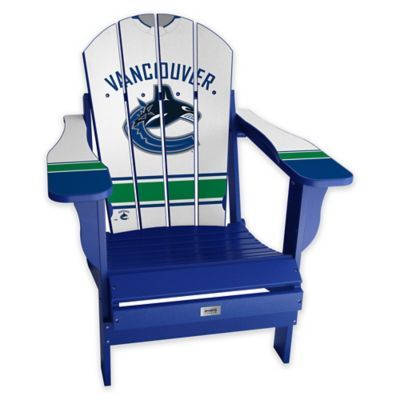 Nhl Vancouver Canucks Away Jersey Adirondack Chair In 2020