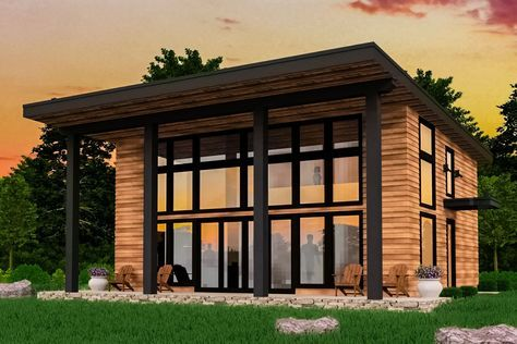 Plan 85165ms Modern 2 Bed Not Too Big House Plan In 2020 Bamboo House Design Small Modern House Plans House Roof