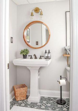 The Do S And Don Ts Of Half Bath Decor Ideas Pedestal Sink 47 Modern Vintage Bathroom Small Half Baths Cute Bathroom Ideas