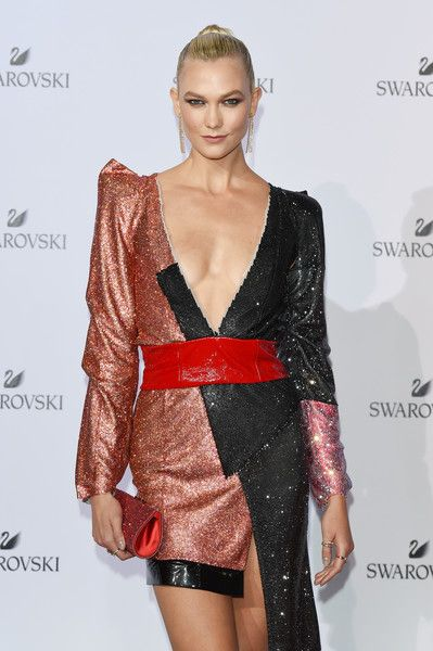 Karlie Kloss attends the Swarovski Crystal Wonderland Party.