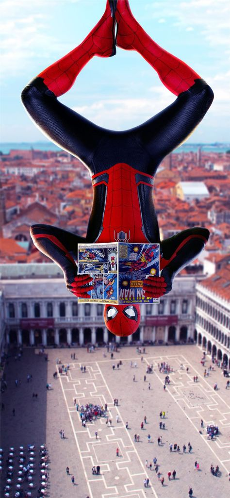 2019 spiderman far from home movie iPhone X Wallpapers