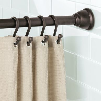 Adjustable Metal Tension Shower Curtain Rod Bronze Shower