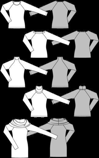 Burda Pattern 6990 Womens Top