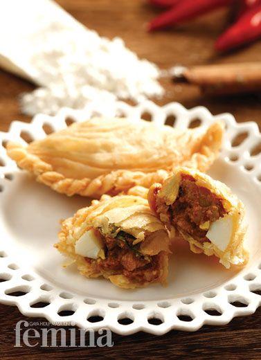 Chicken Curry Puff Kari Ayam Resep Masakan Makanan Dan Minuman