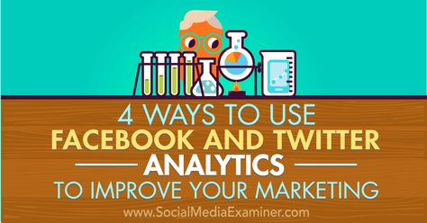 4 Ways to Use Facebook and Twitter Analytics to Improve Your Marketing : Social Media Examiner
