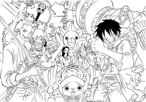 One Piece Ten Lineart By Opf4e N On Deviantart ภาพวาด สเก ต