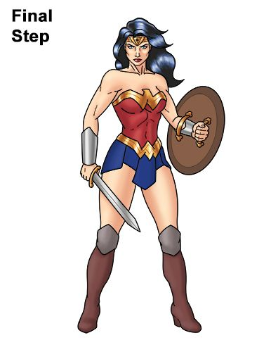 How To Draw Wonder Woman Full Body In 2020 Wonder Woman Wonder Wonder Woman Drawing