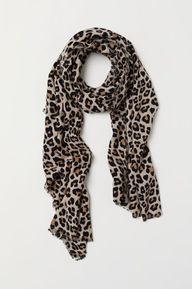 Moda Mujer Dama Cuello Largo Animal Printed Leopardo Chifón Bufanda Bufandas Wrap