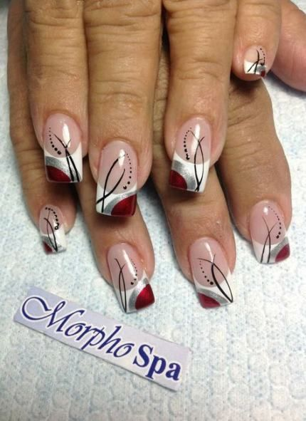 Pedicure white tip design french manicures 19 Ideas