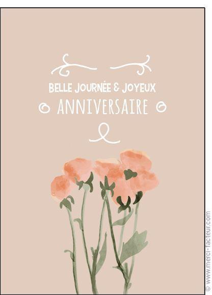 Carte Belle Journ E Et Joyeux Anniversaire Pour Envoyer Par La
