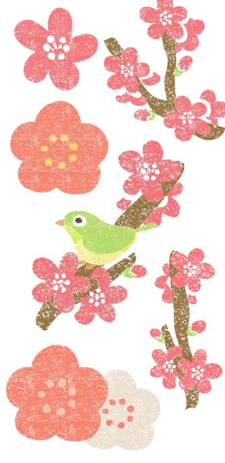 おしゃれかわいい梅の花イラスト無料素材 Plum Blossom 花 イラスト 梅の花 イラスト 梅 イラスト