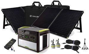 Goal Zero Yeti 1400 Lithium Power Station With Mppt And 2 Boulder 100 Solar Briefcases V2 With Wi Fi Goal Zero Solar Kit Solar Panel Installation