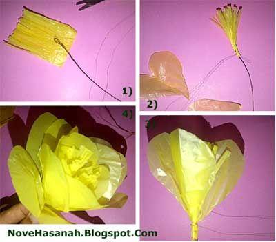 Cara Membuat Bunga Zinnia Dari Kantong Kresek Bunga Kertas
