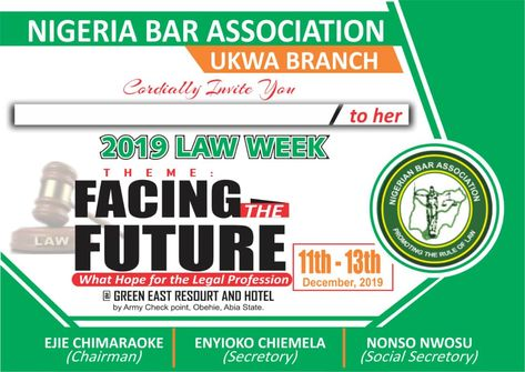 2019 Law Week Nba Ukwa Branch Dinner Award Ceremony Holds 13th