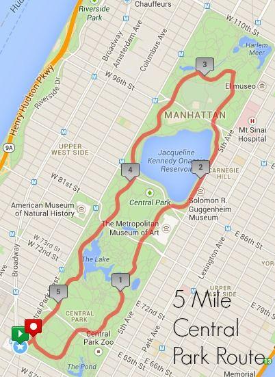5 Mile Central Park Route Jpg Central Park Central Park Map Park In New York