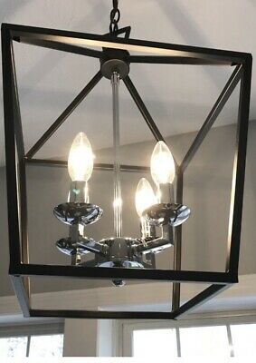 Carmen 4 Light Lantern Pendant Chandelier Kitchen Or Dining Room Light Ebay Pendant Lamp Living Room