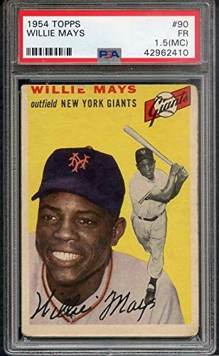 1954 Topps 90 Willie Mays Giants Psa 1 5 Fr Mc 364665 Kit Young Cards Find Out More About The Gre Baseball Cards Old Baseball Cards Baseball Trading Cards